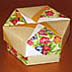 <strong>Floral Starry Pinwheel Hexagon Box</strong>