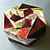 <strong>Plum Foil & Berries Octagon Box</strong>